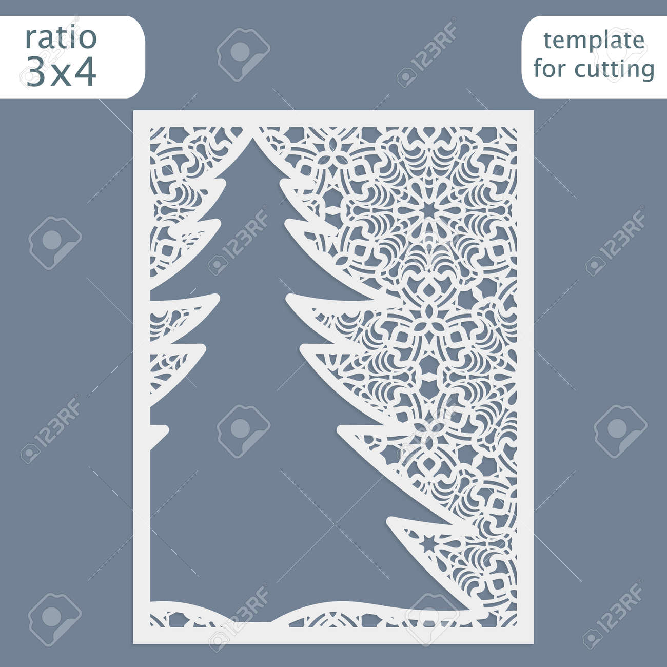 laser cut christmas invitation card template cut out the paper