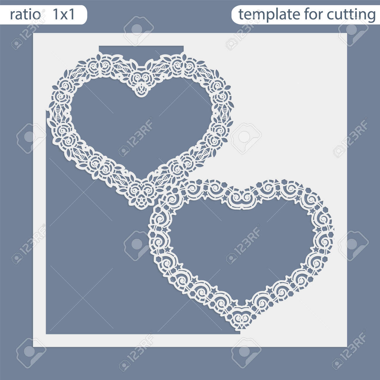 Laser Cut Wedding Invitation Card Template Out The Paper With Lace Pattern Greeting For Cutting Plotter: Cut Out Wedding Invitation Card Templates At Websimilar.org