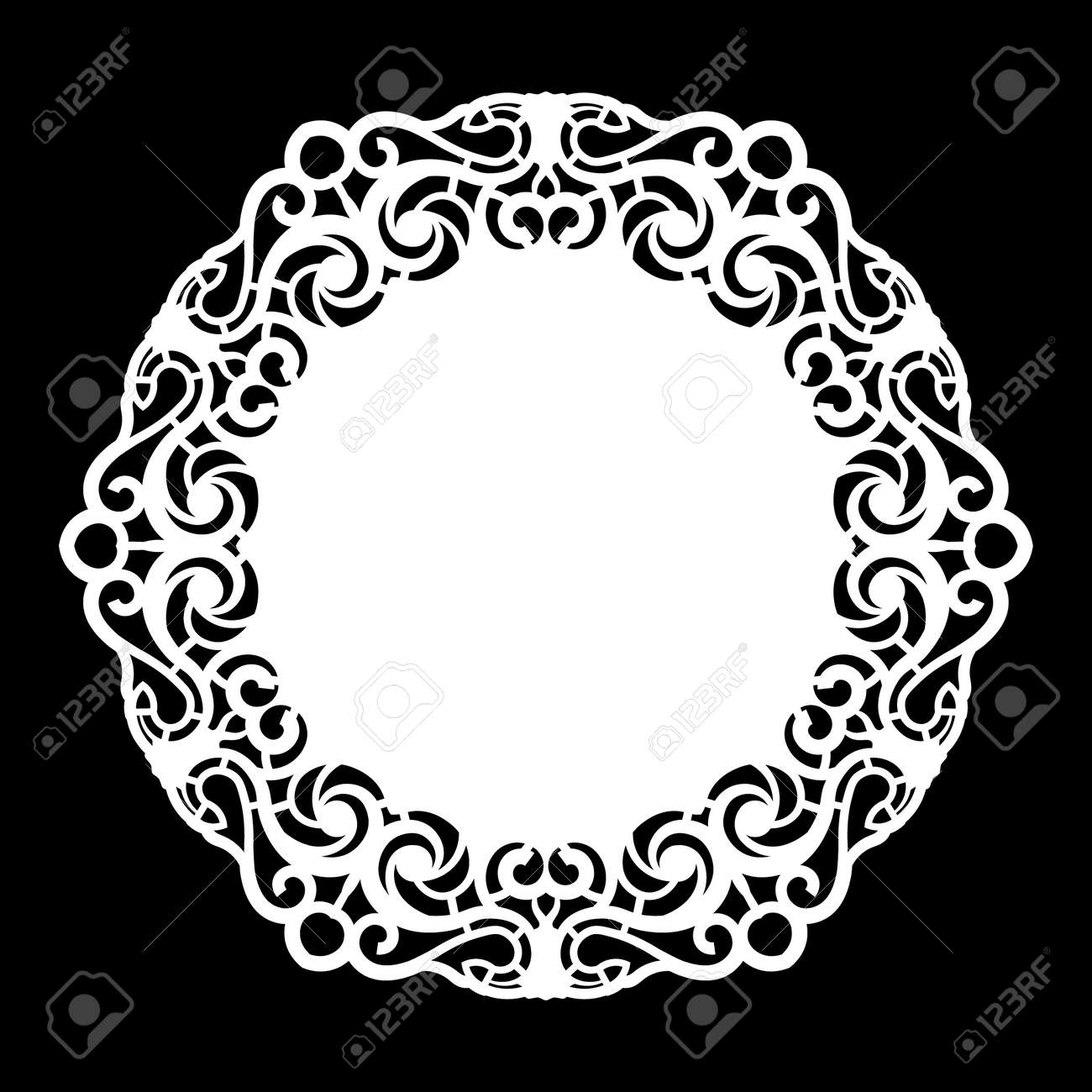lace round paper doily lacy snowflake greeting element template rh 123rf com vector lace pattern background seamless vector lace pattern