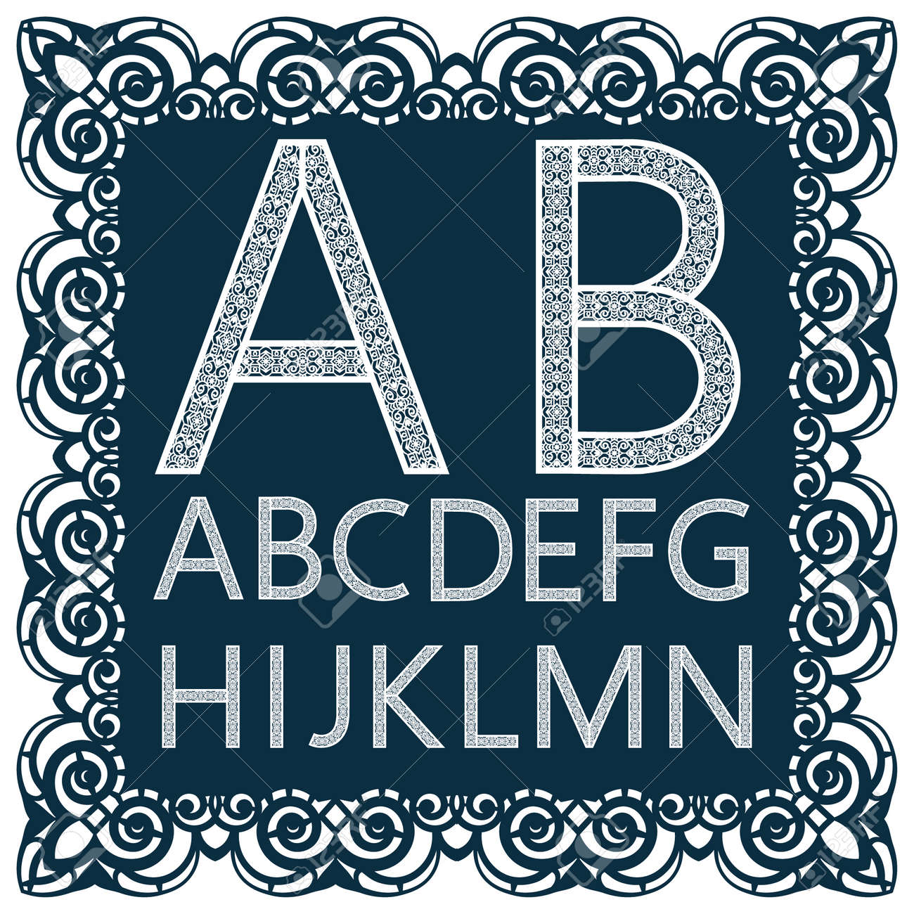 templates for cutting out letters full english alphabet may be used for laser cutting