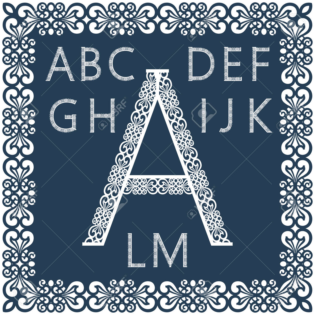 Templates For Cutting Out Letters Full English Alphabet May