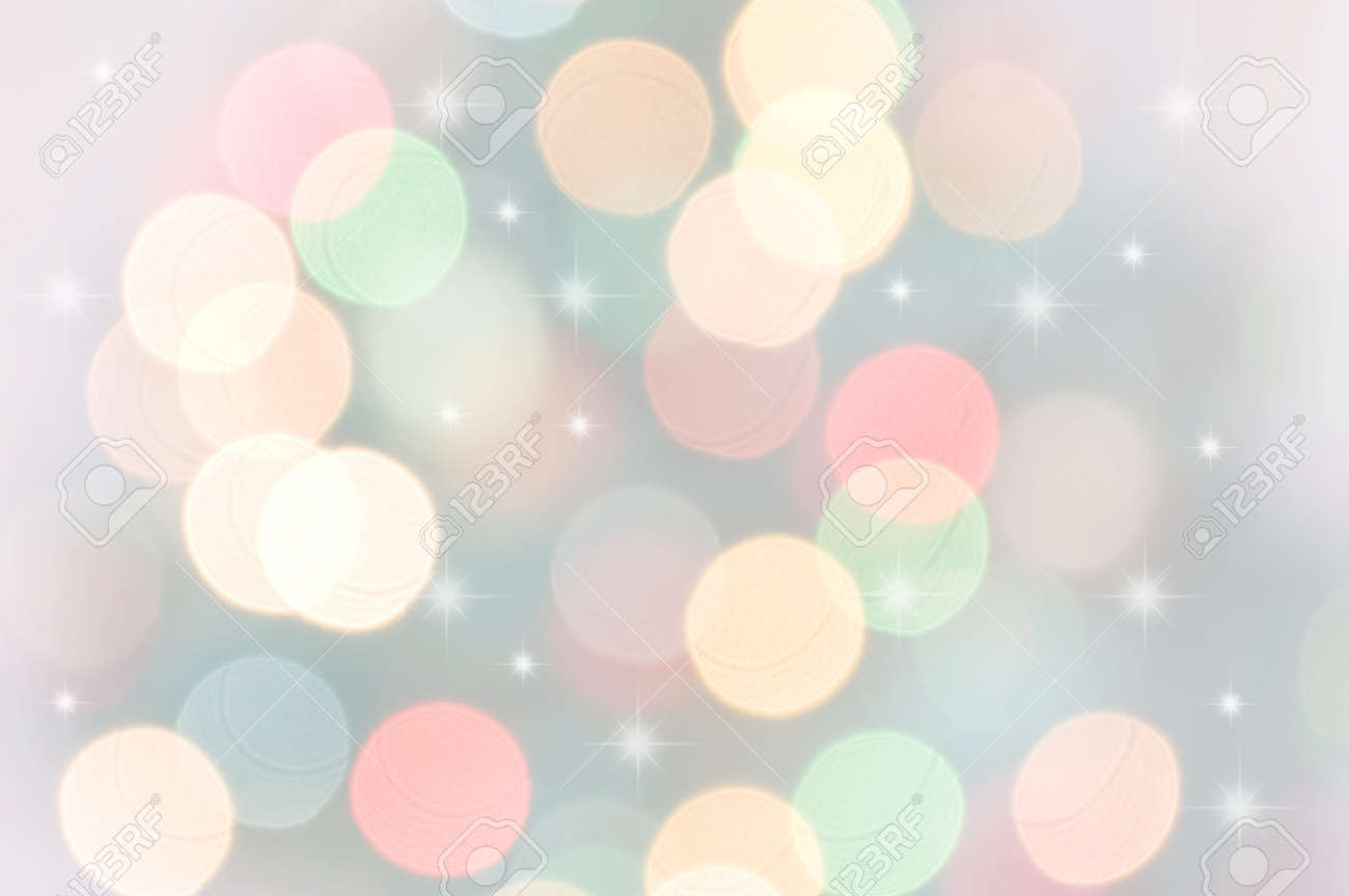 Defocused Pastel Bokeh Christmas Lights Stock Photo, Picture And ...