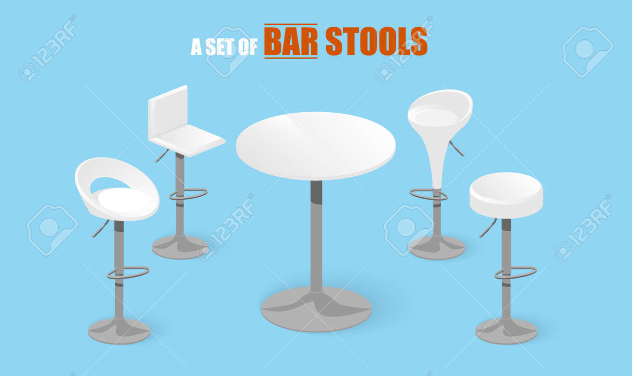 Incroyable Ensemble De Tabourets De Bar Et De La Table. Chaise De Bar. Chaise RZ-69