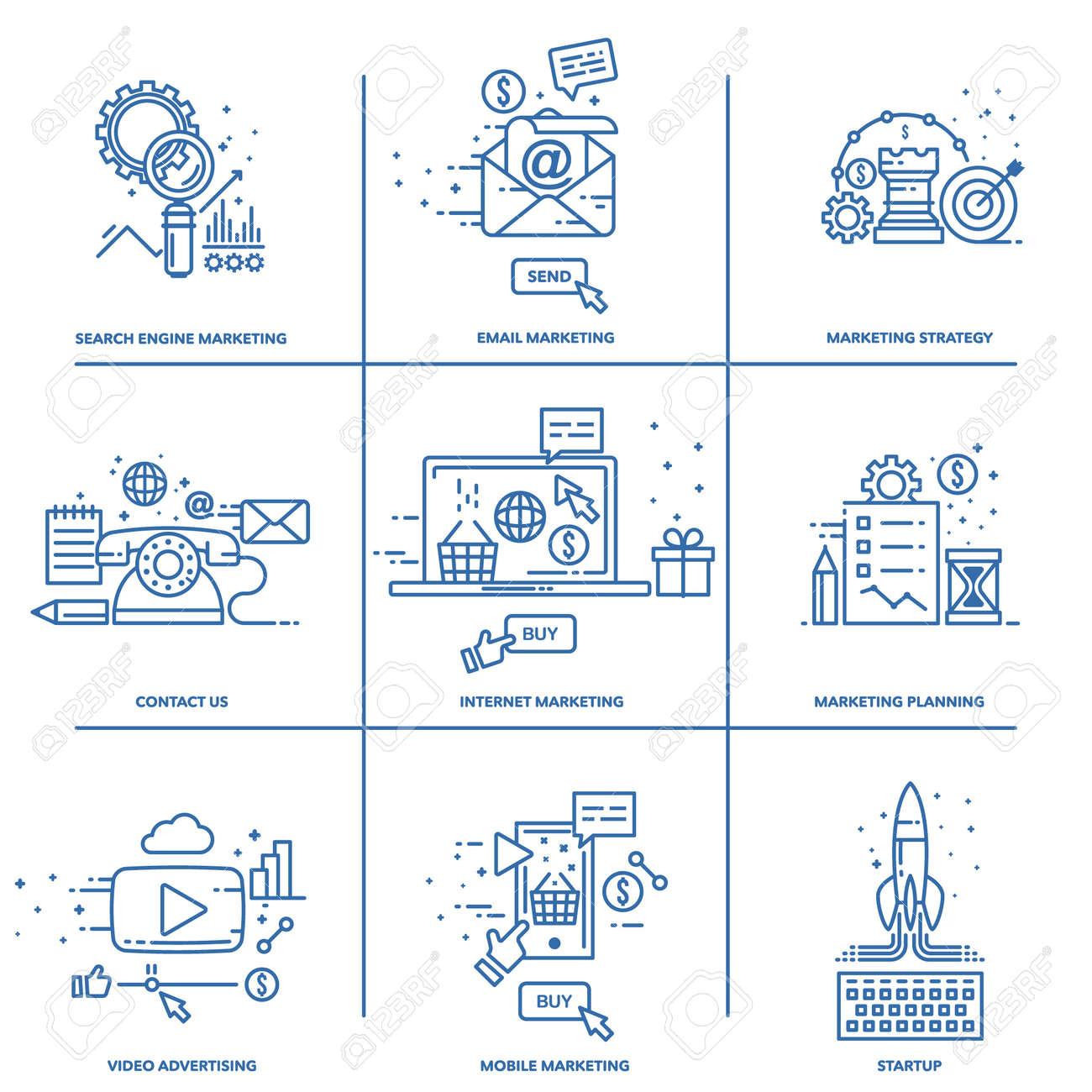 a set of elements for website design digital marketing vector royalty free cliparts vectors and stock illustration image 95735832 123rf com