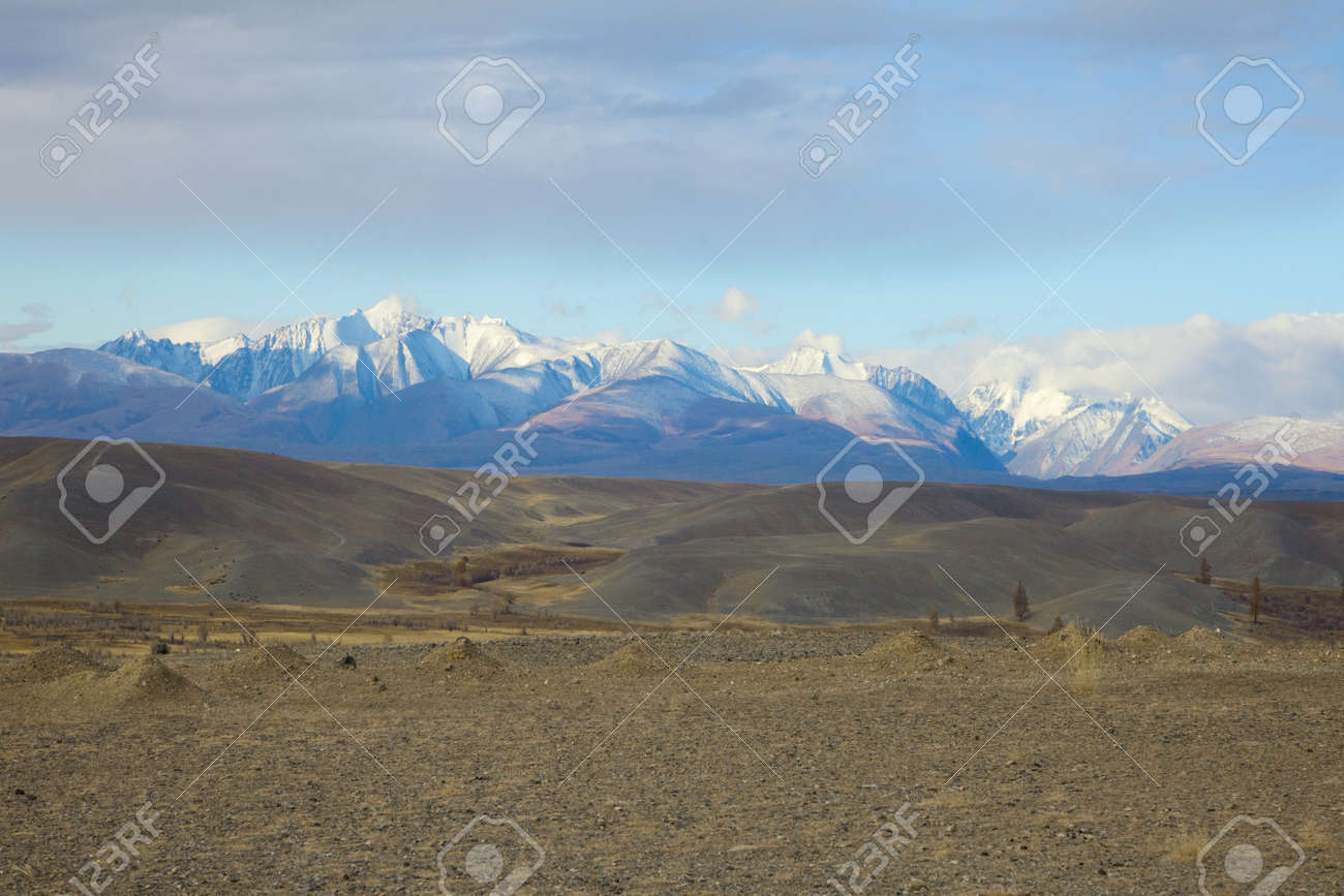 Chu steppe, a wonderful place on the border of Mongolia and the Altai Stock Photo - 16873449