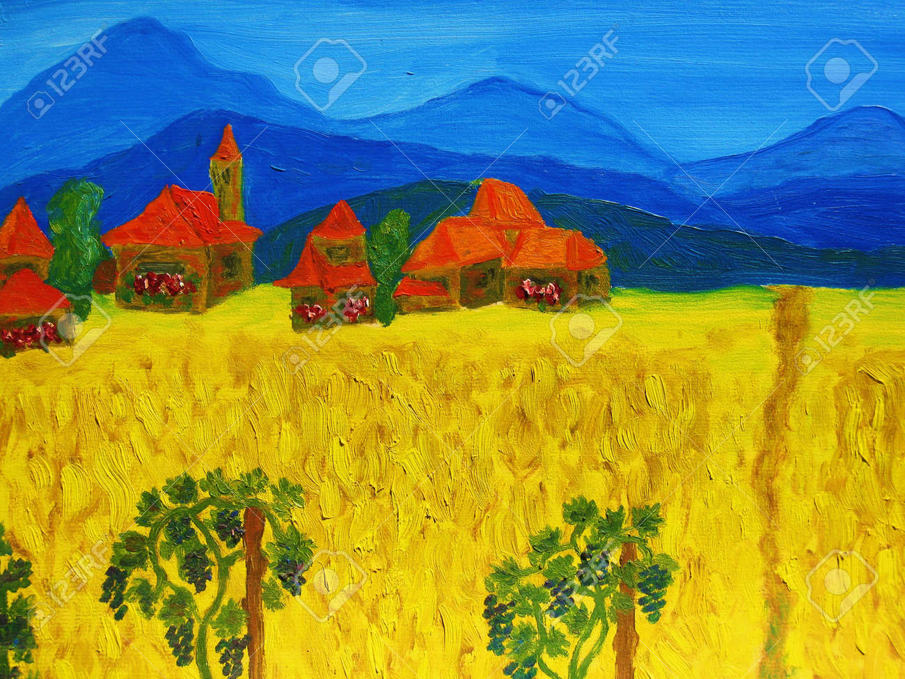 Italy, oil painting, my own. Stock Photo - 11746521