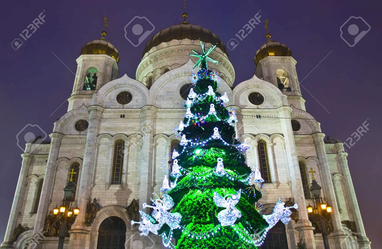 Christmas tree in the Cathedral of Christ the Savior 2019 13