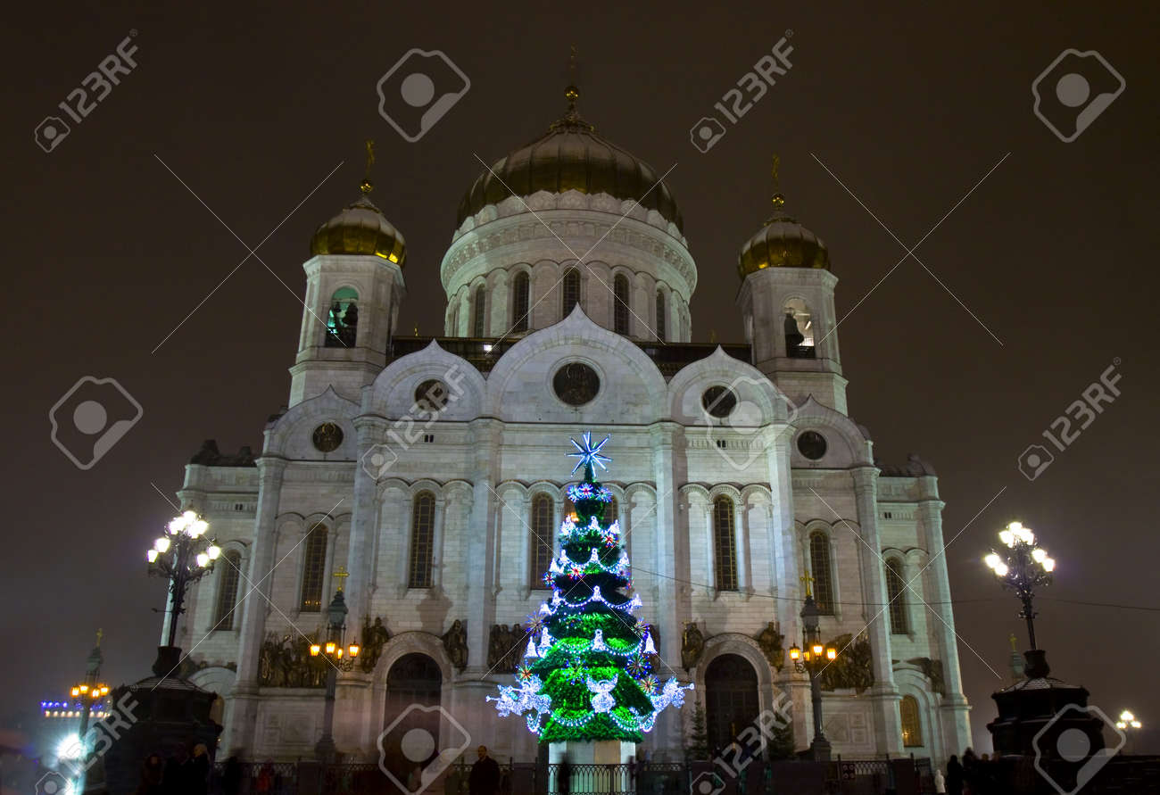 Christmas tree in the Cathedral of Christ the Savior 2019 47