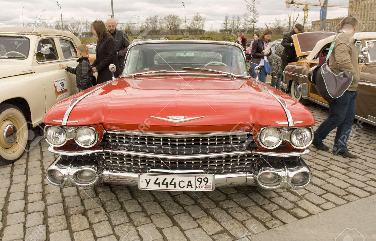 MOSCOW, APRIL 21: Retro Car Cadillac On Rally Of Clical Cars ...