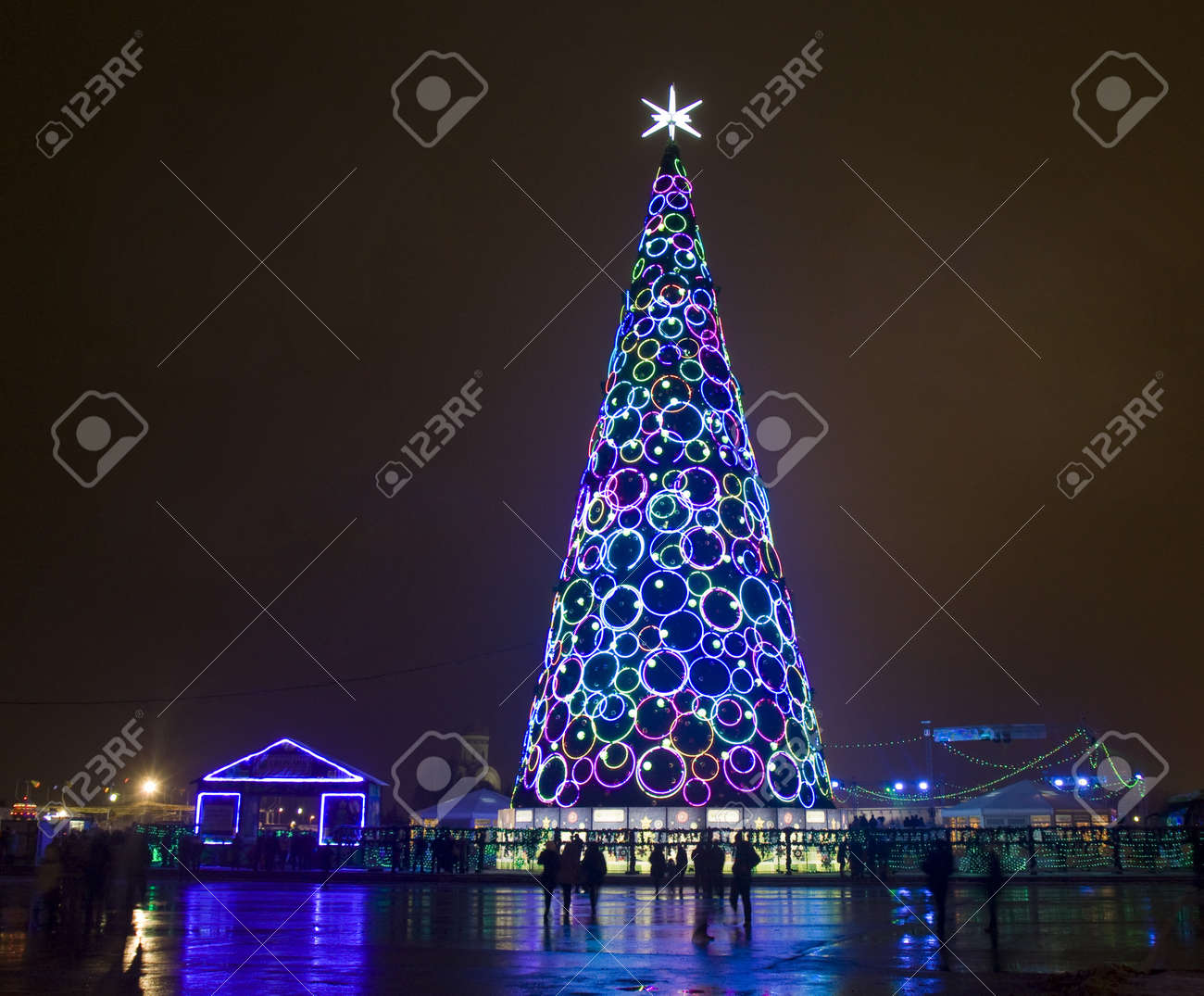 Moscow, Russia - January 01, 2013: Christmas - New Year Tree ...