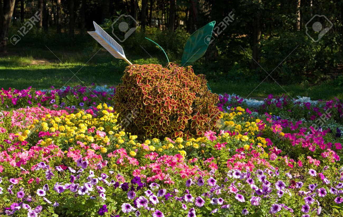 Exemple De Conception De Jardin Parterre Avec Pomme De Fleurs