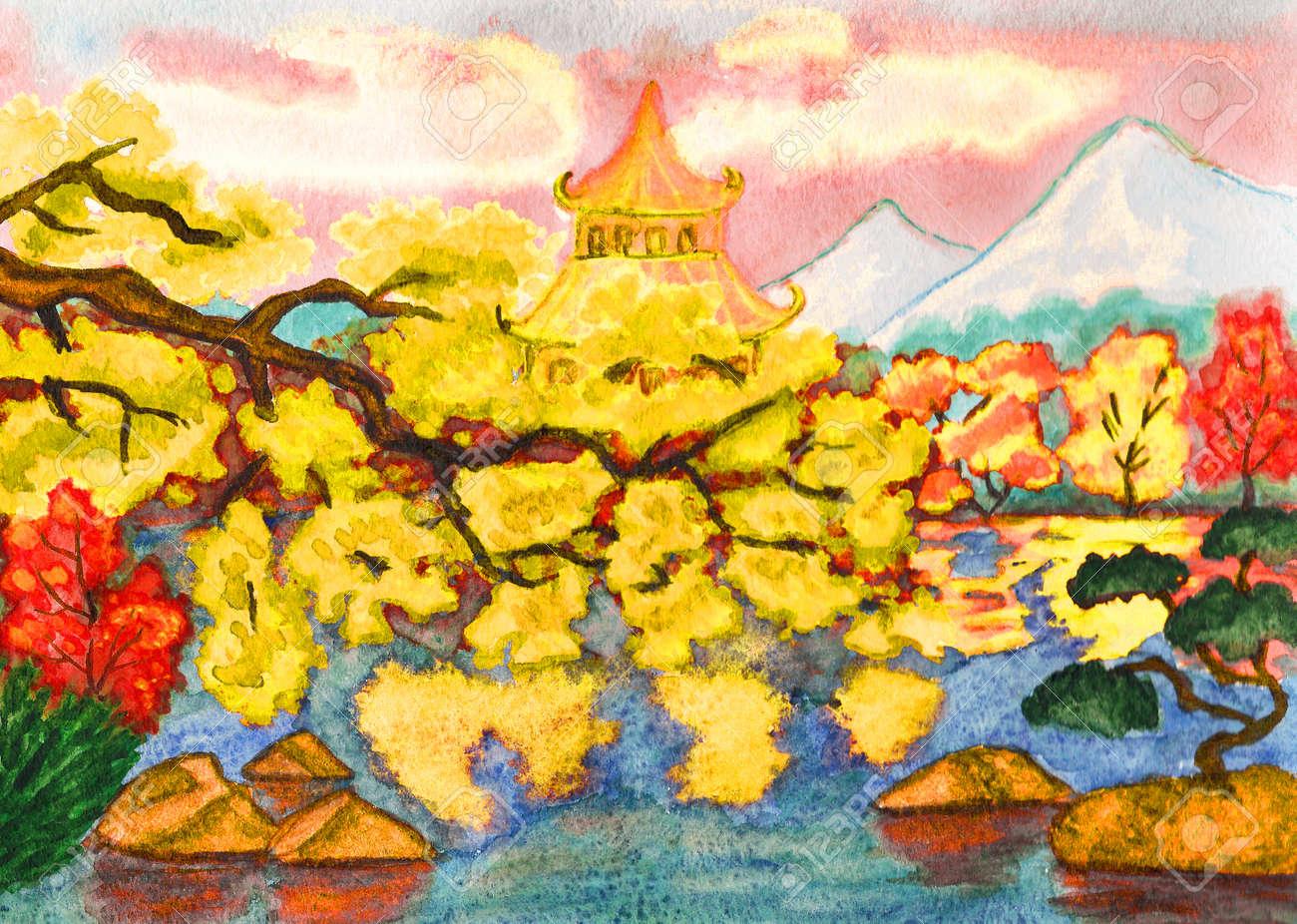 Paysage Jardin Japonais. Download Paysage Pittoresque De Jardin ...