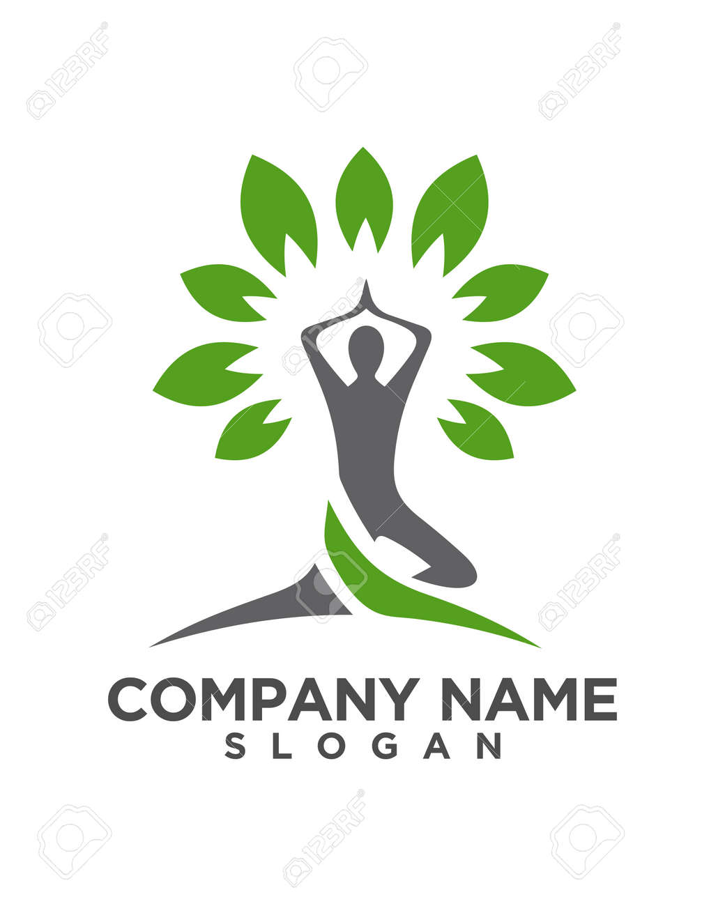 Yoga Logo Template Vector Royalty Free Cliparts Vectors And Stock Illustration Image 82111135
