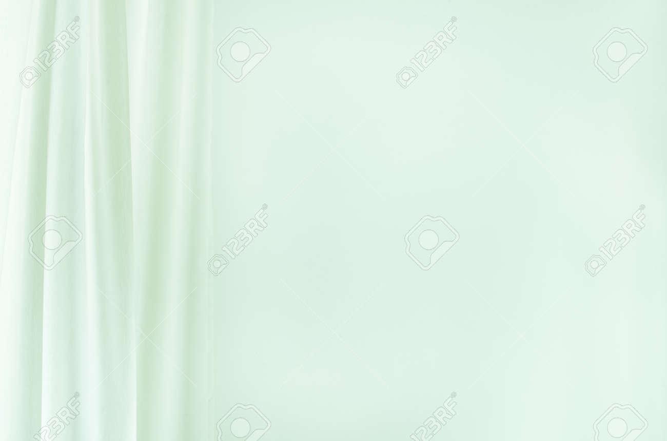 Weißer Vorhang Auf Weißem Wandhintergrund Lizenzfreie Fotos Bilder