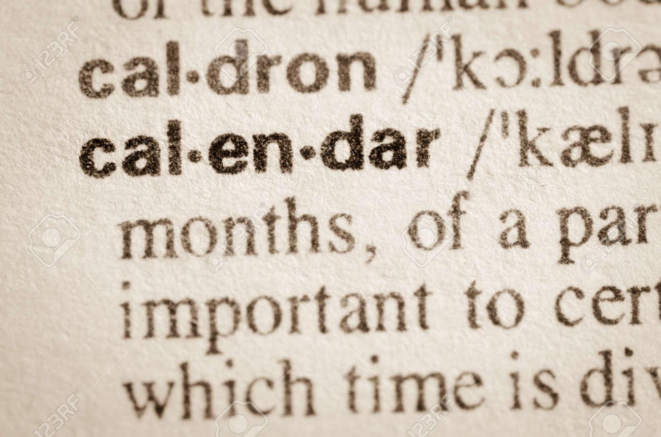 Calendrier Definition.Definition Du Calendrier De Mot Dans Le Dictionnaire