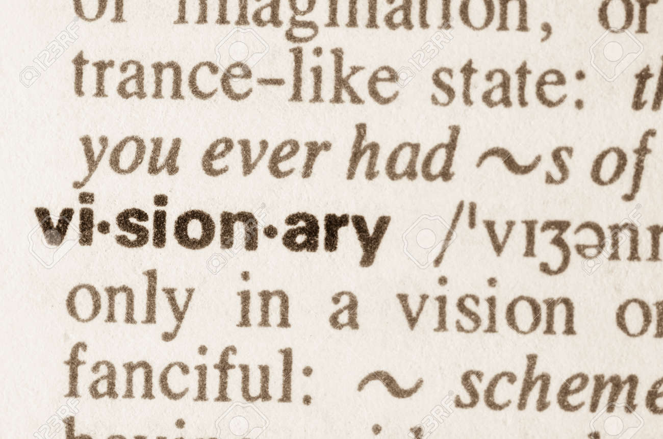 Definition of word visionary in dictionary