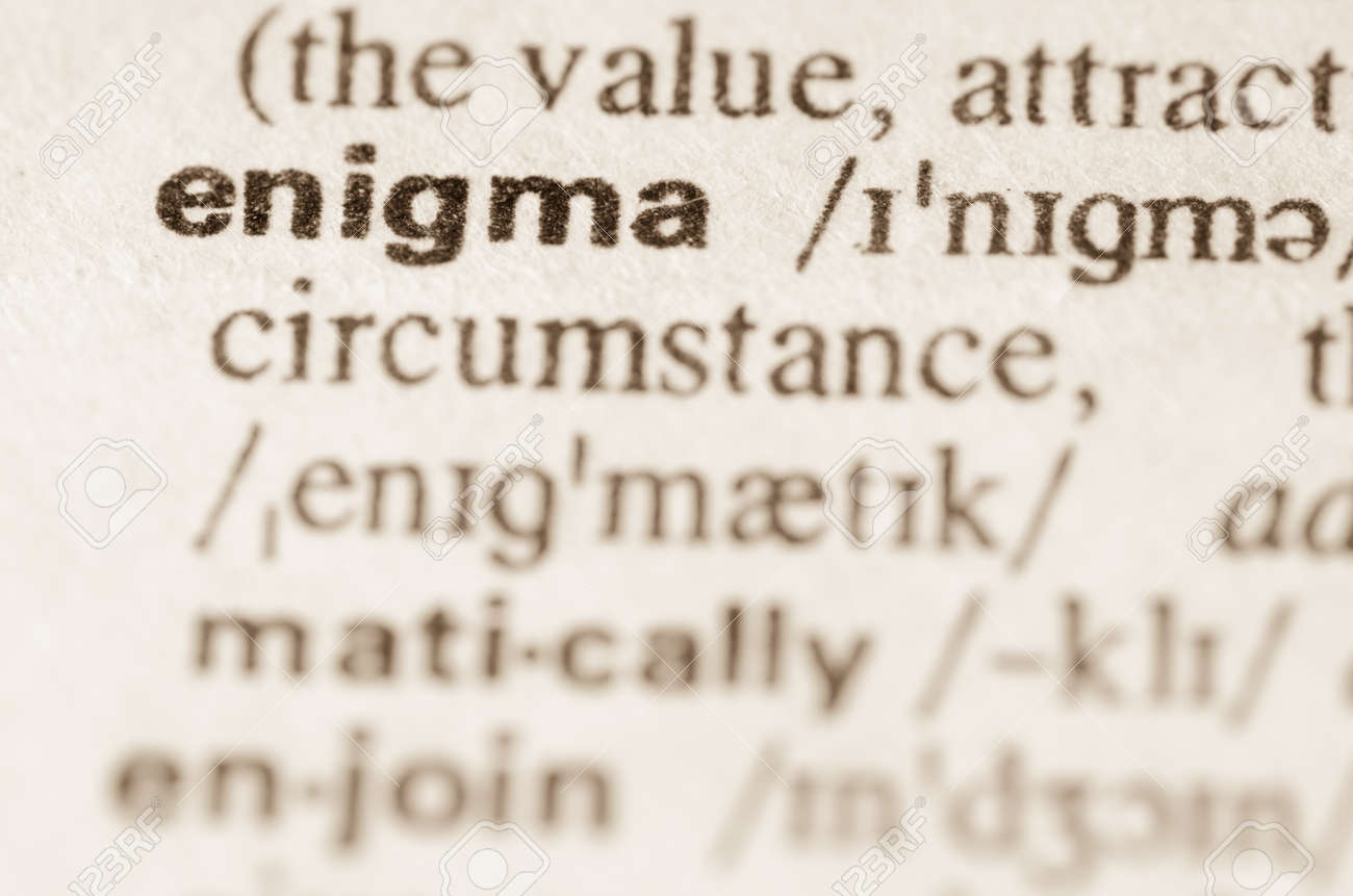 definition of word enigma in dictionary stock photo picture and definition of word enigma in dictionary stock photo 41666069