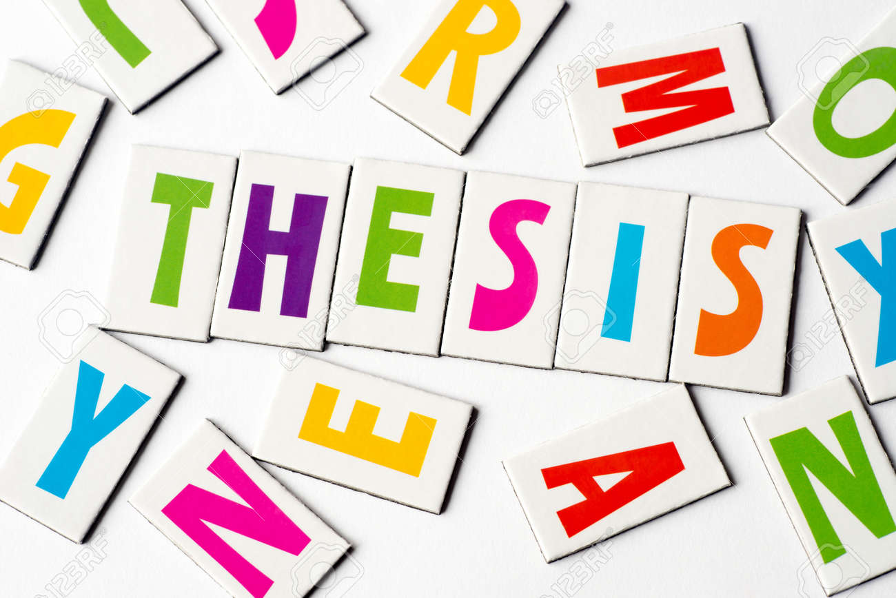 Word Thesis Made Of Colorful Letters On White Background Stock Photo,  Picture And Royalty Free Image. Image 90302843.