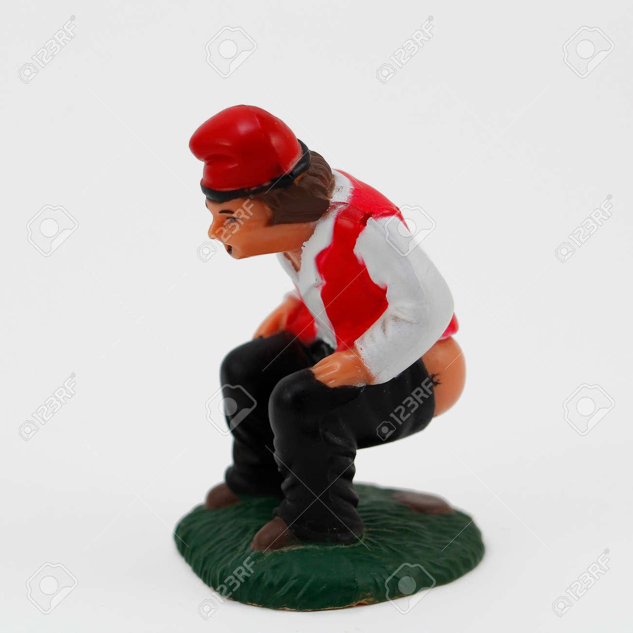 Le caganer, une figurine catalan traditionnel de Noël Banque d'images - 49245259