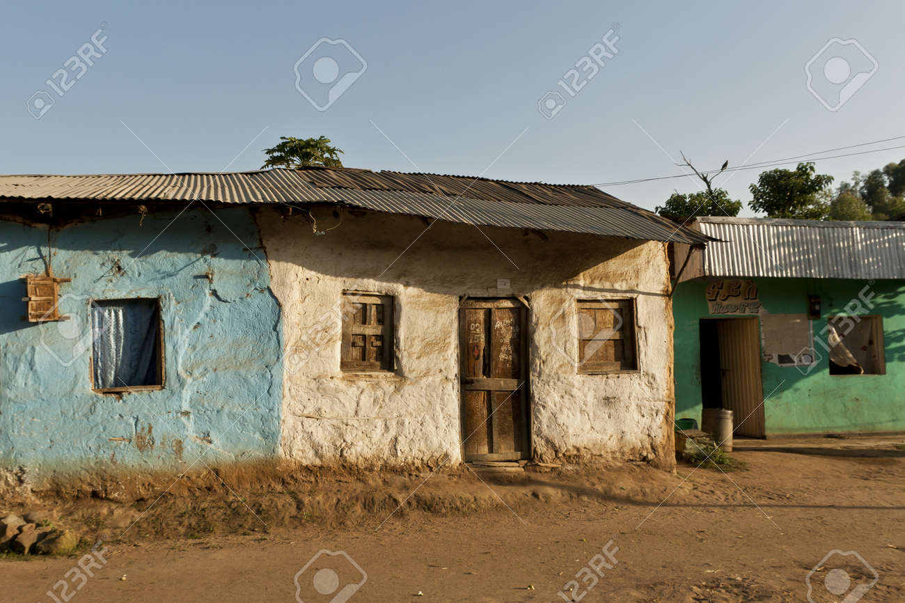 African house stock photo 12085588