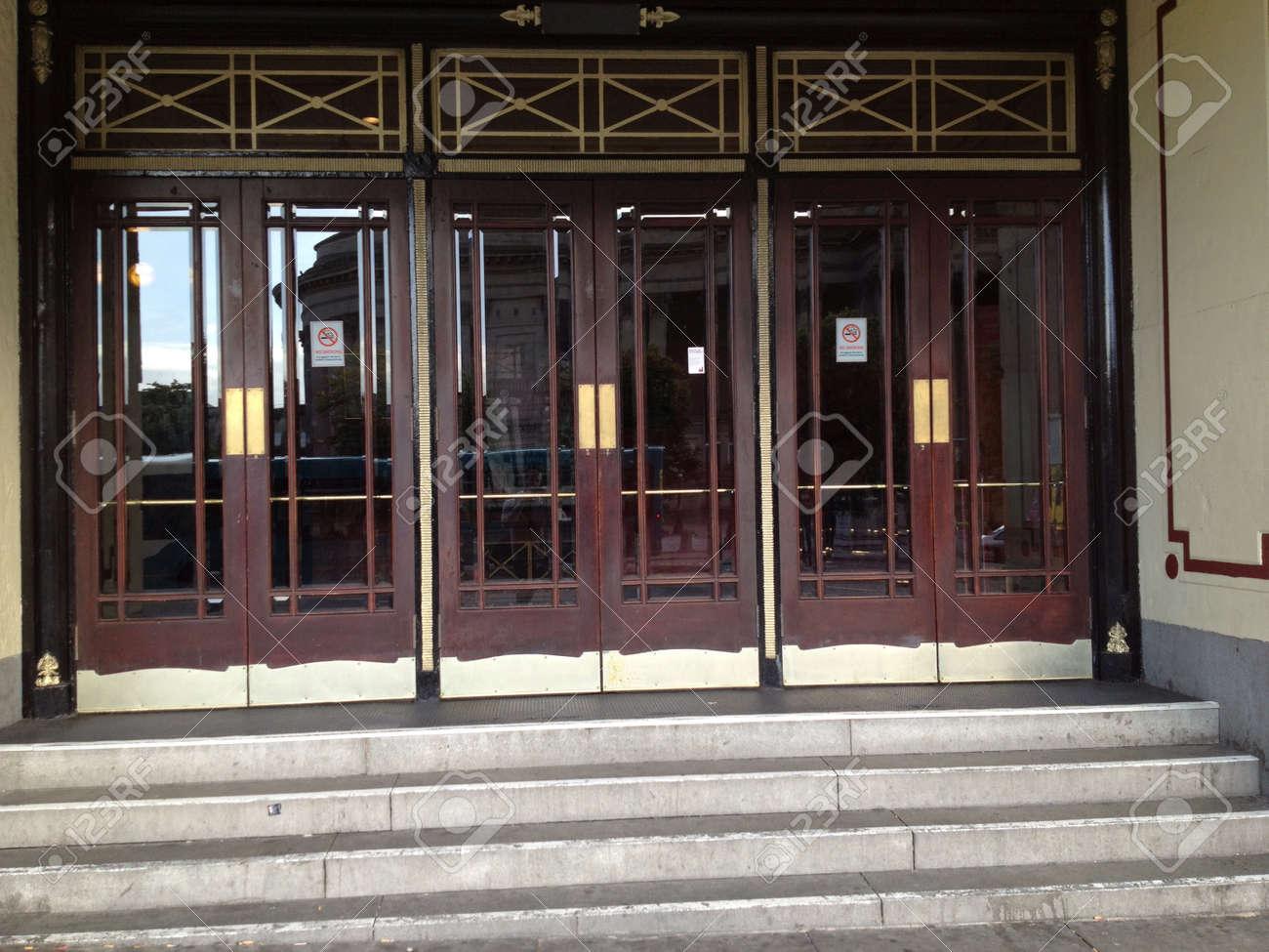 Empire theatre doors Stock Photo - 21517557 & Empire Theatre Doors Stock Photo Picture And Royalty Free Image ...