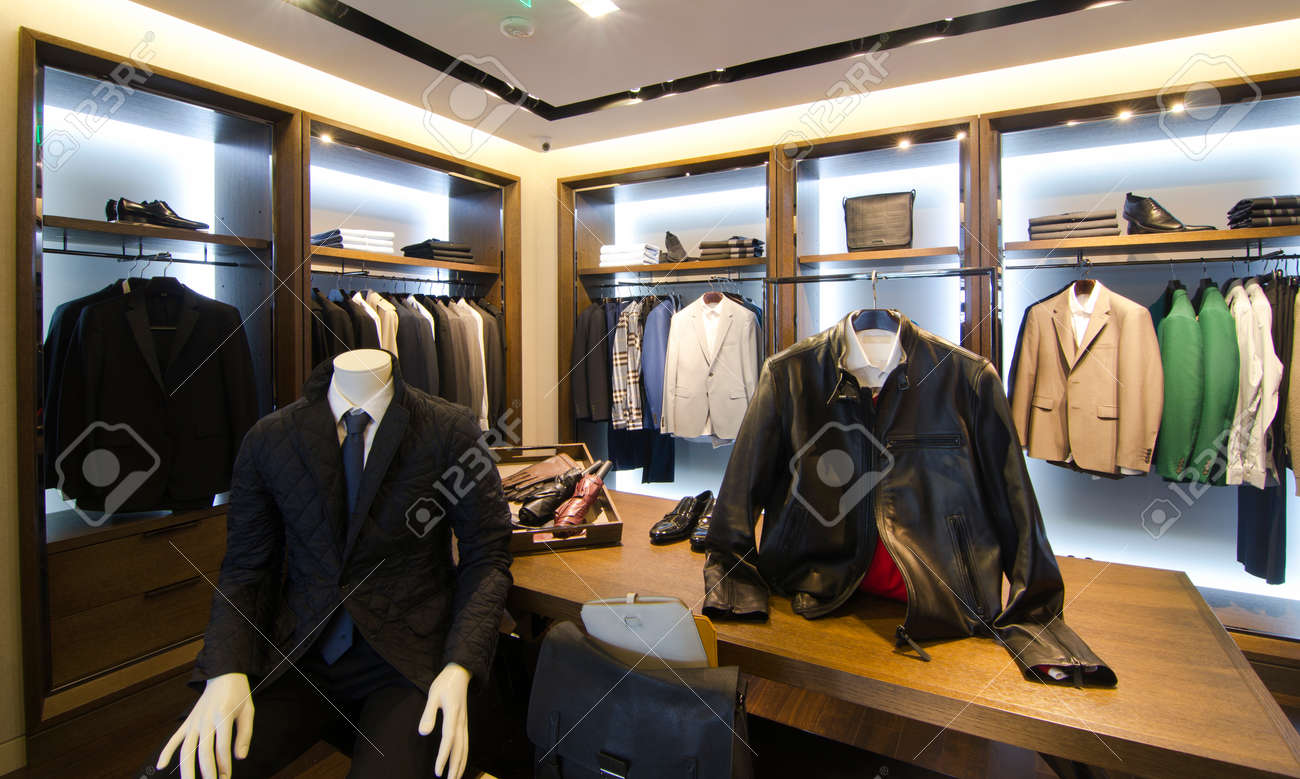 A luxury store with mens clothing. - 41692111