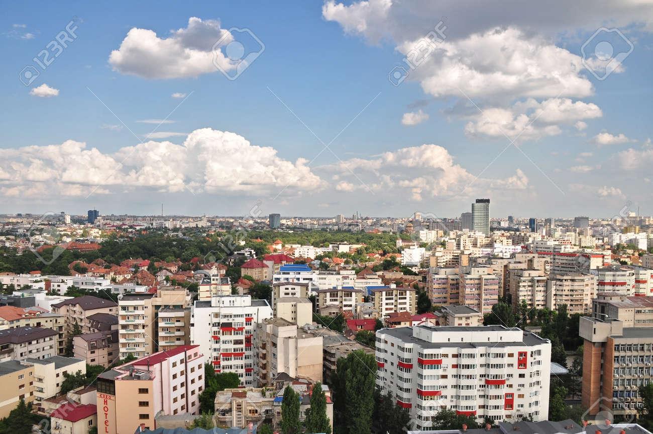 Panoramic view of Bucharest,Romania. - 43049243