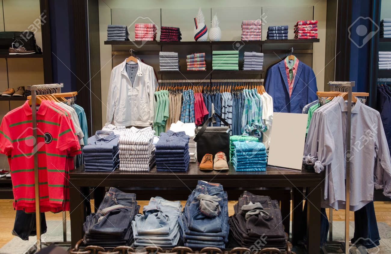 A luxury store with mens clothing. - 45887718