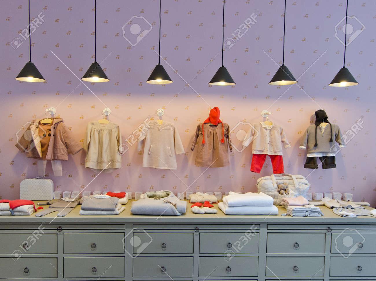 ba7ca5e3eca Children clothing store Stock Photo - 52961327