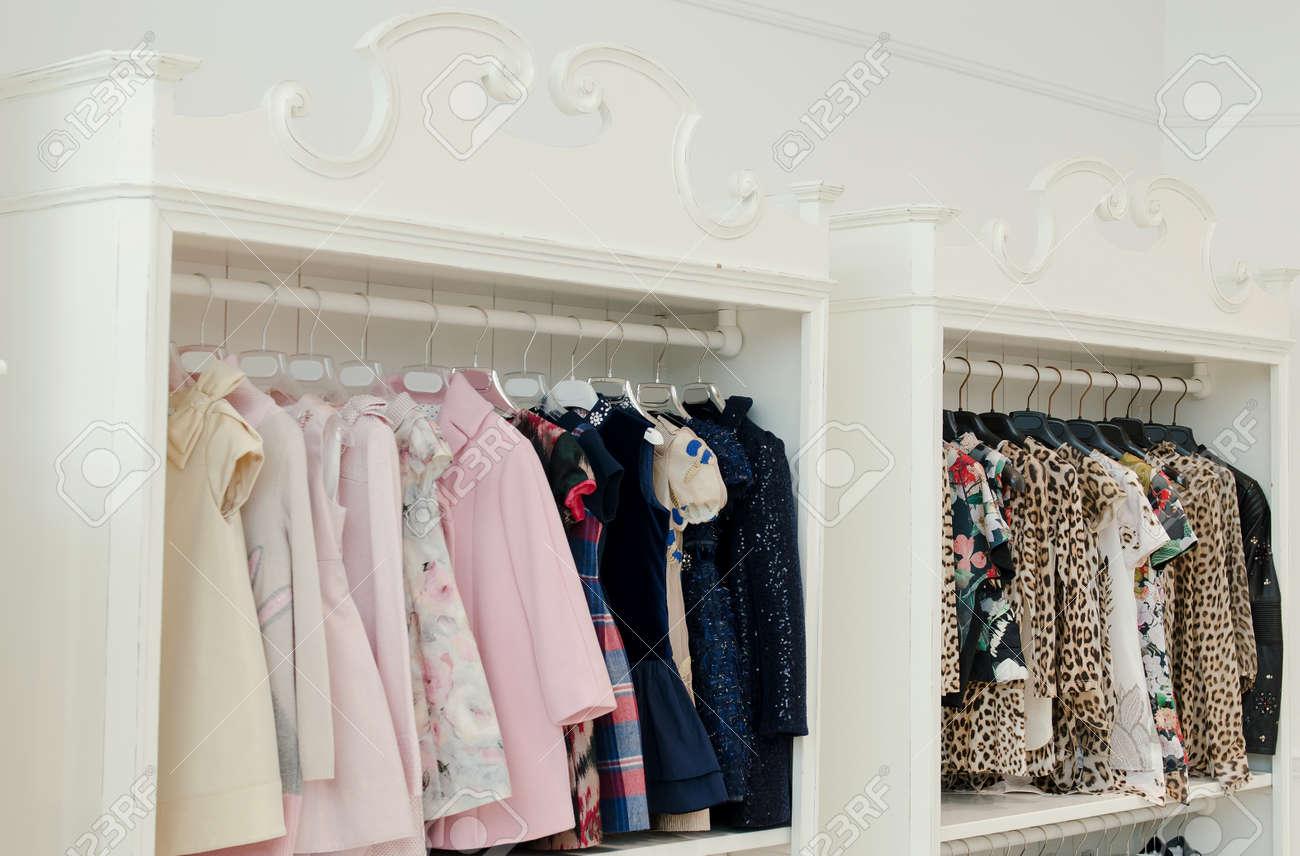 2b8cca9dd0d Children clothing store Stock Photo - 67312924