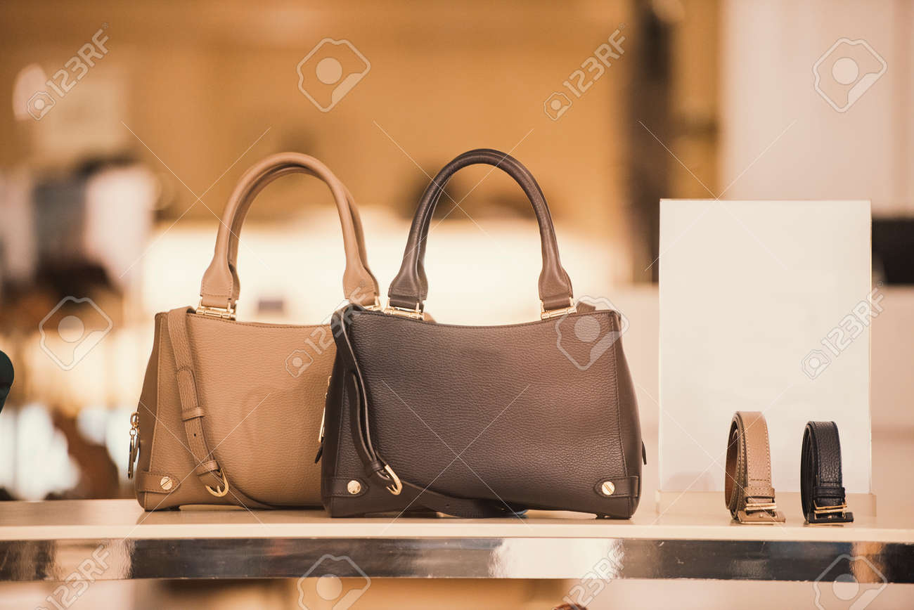 847a8a0f6997 Luxury handbags in a boutique store Stock Photo - 80989139