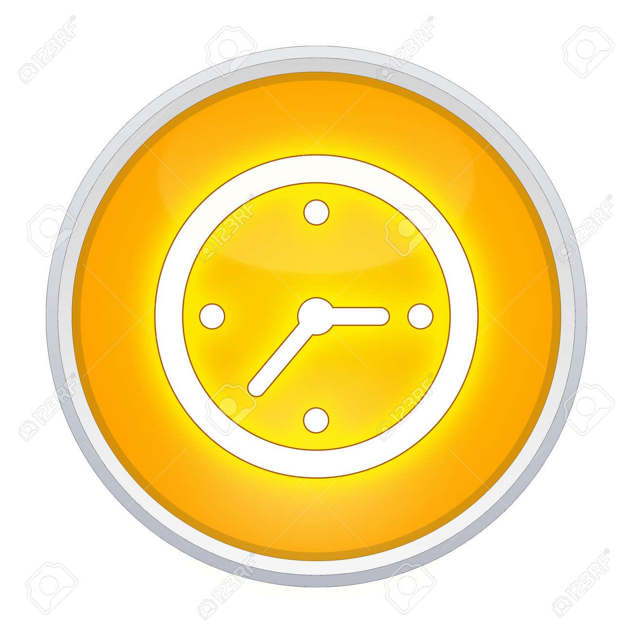 Redondo Botón Amarillo Botón Del Del Reloj iwZOPuTkX