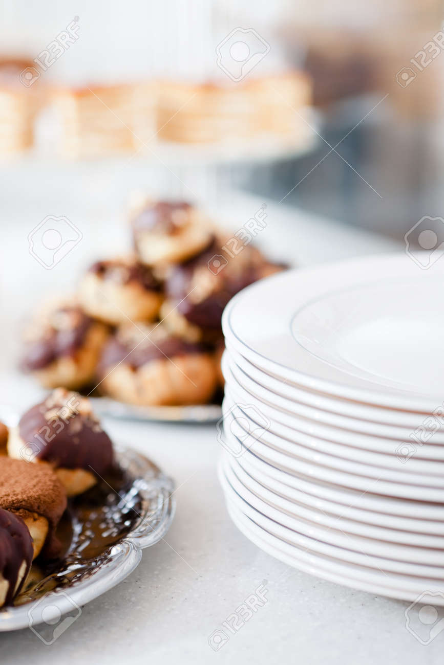Great variety of different cakes on the plate Stock Photo - 15326912