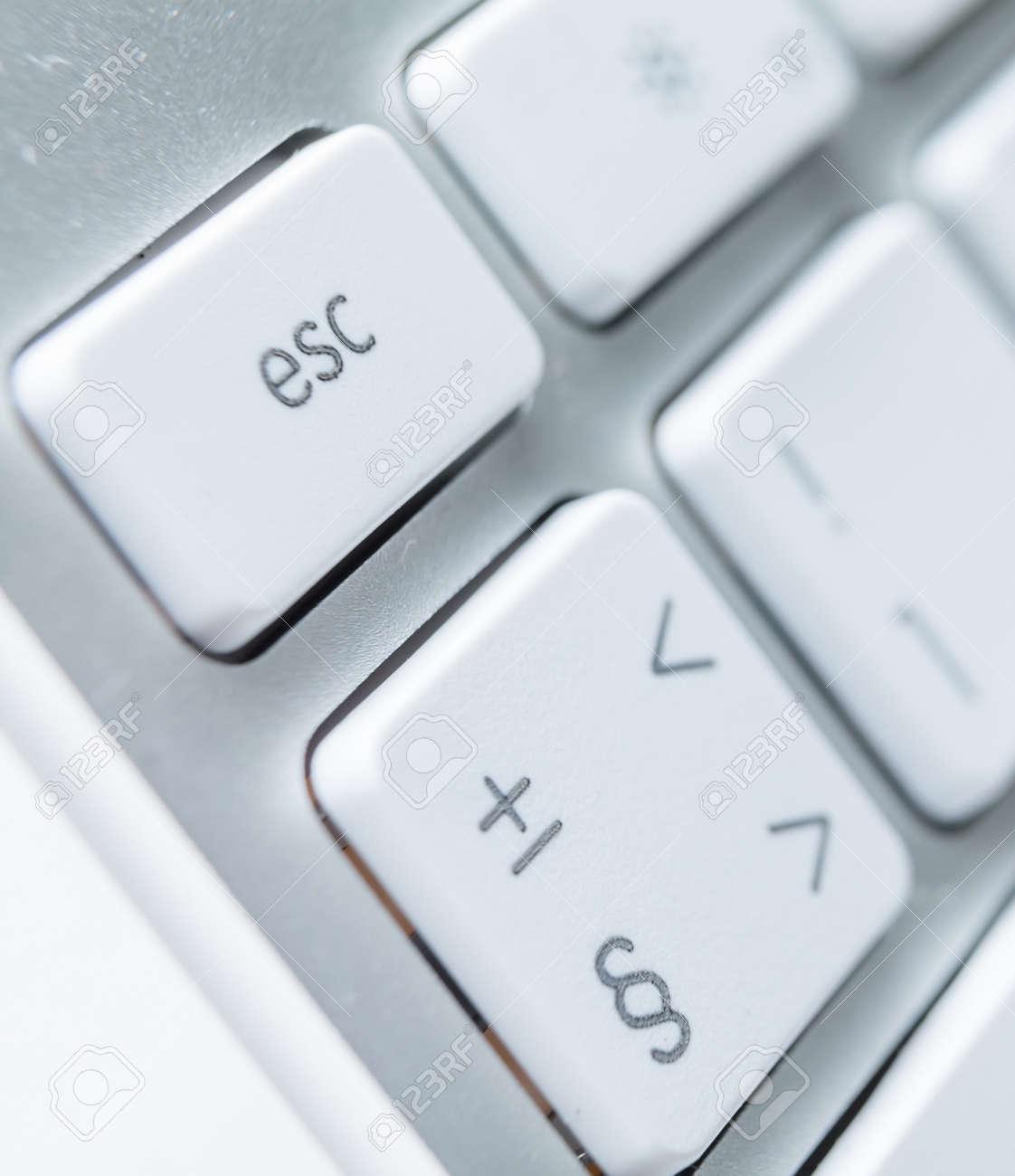 Close up of keys of white pc keyboard Stock Photo - 15873130