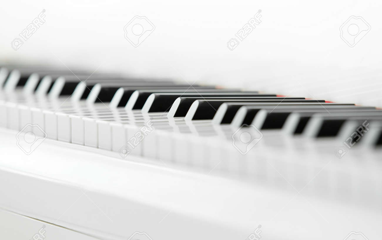 Close up of piano keyboard. Concept of music and creative hobby Stock Photo - 24481030