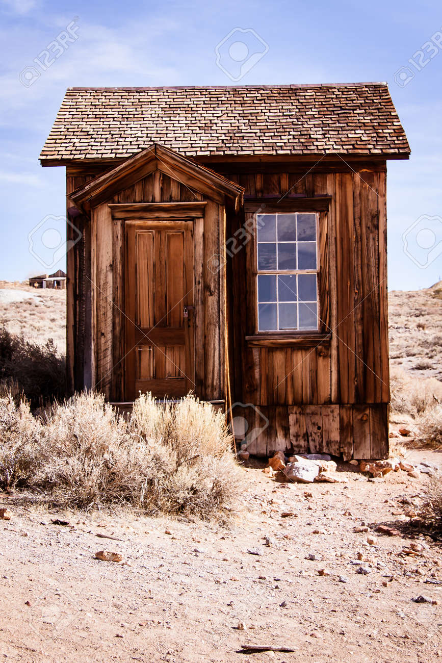 Small Abandoned Old House In Bodie Ghost Town Stock Photo Picture