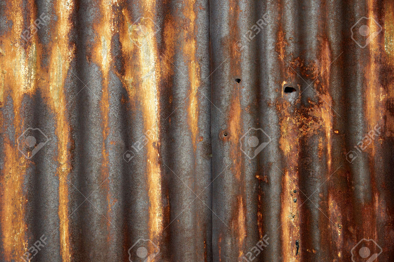 Rusty Corrugated Metal Roof Texture Stock Photo   23444586