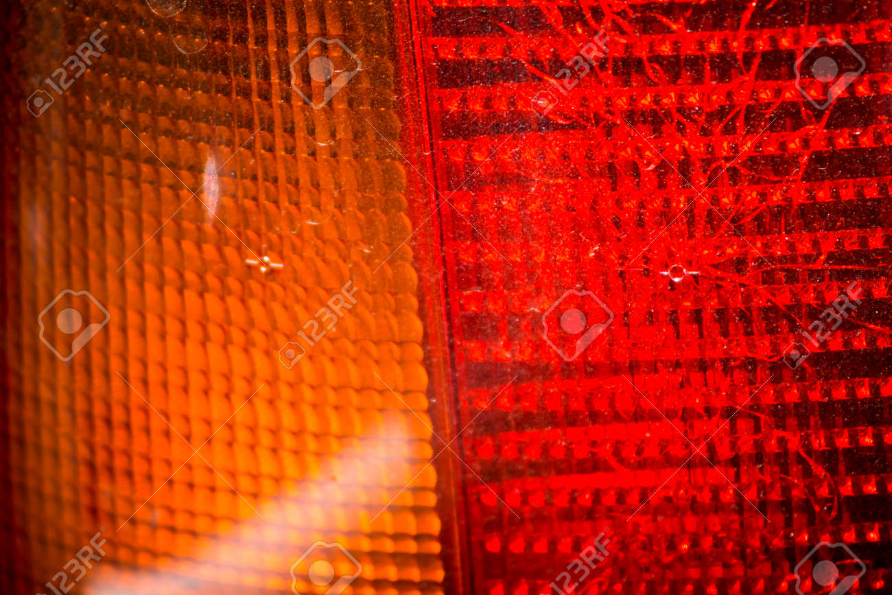 Old Car Tail Light Close Up Stock Photo, Picture And Royalty Free ... for Brake Light Texture  111ane