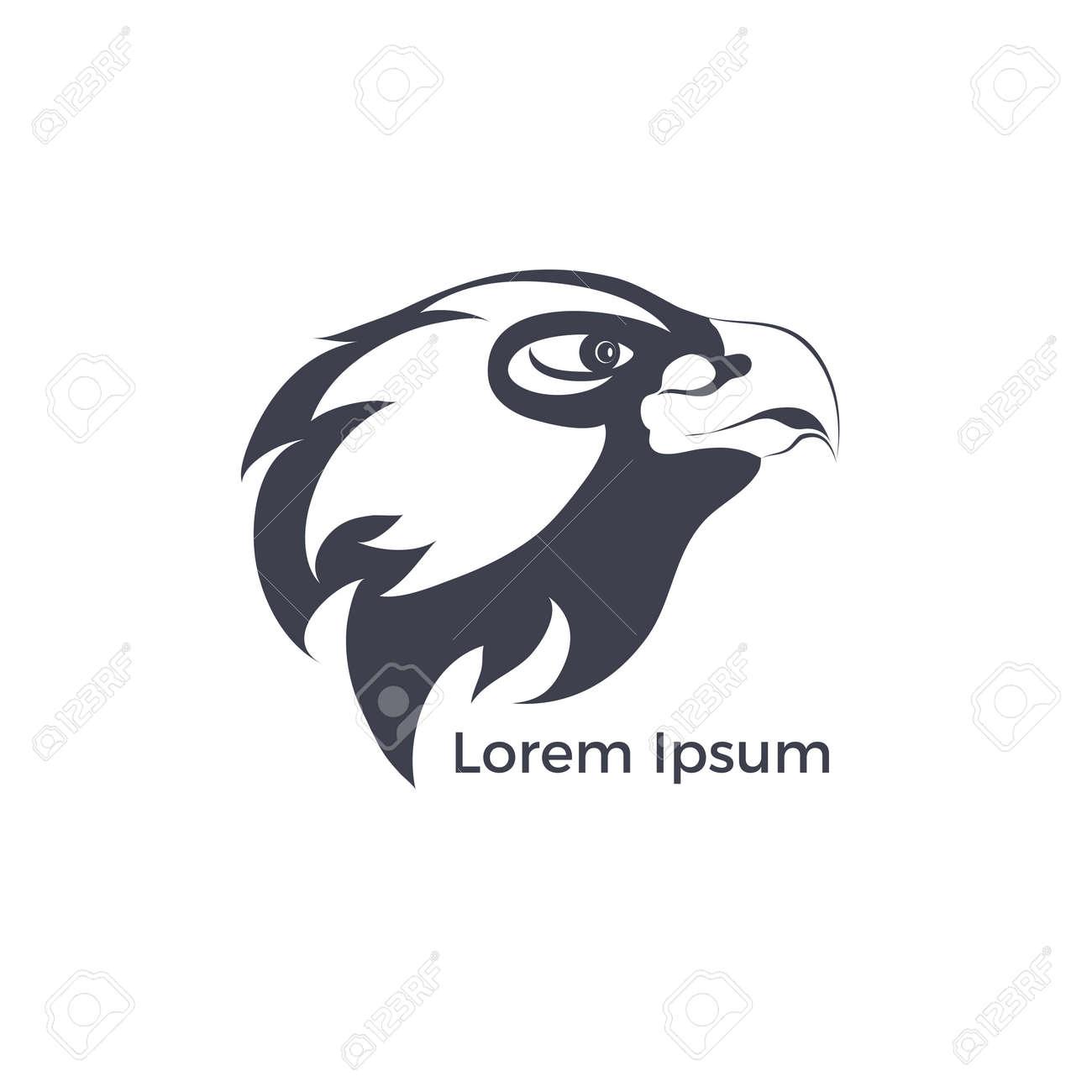 eagle template  vector eagle head
