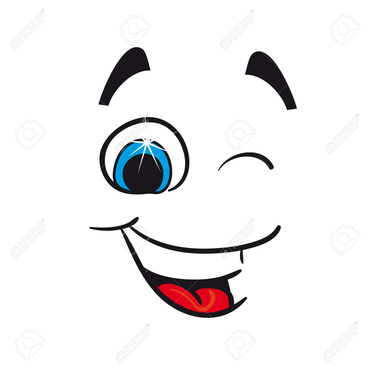 Cheerful caricature on a white background Stock Vector - 15603131