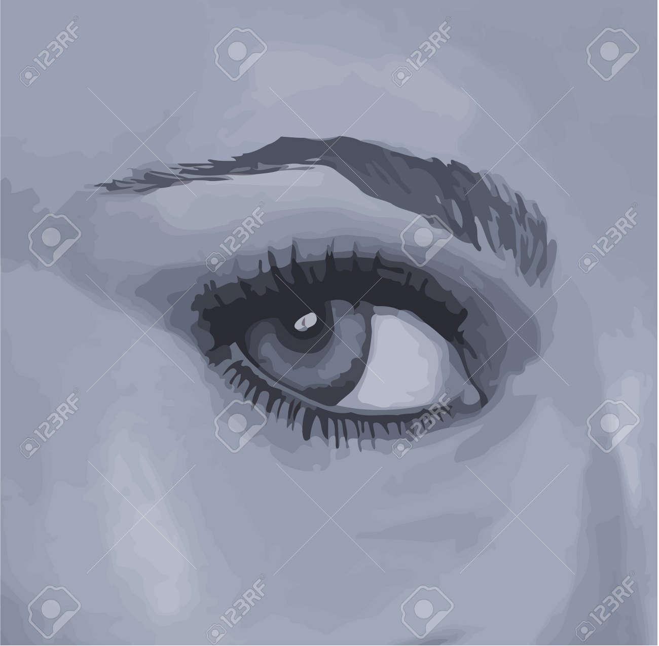 woman's eye. Stock Vector - 17150161