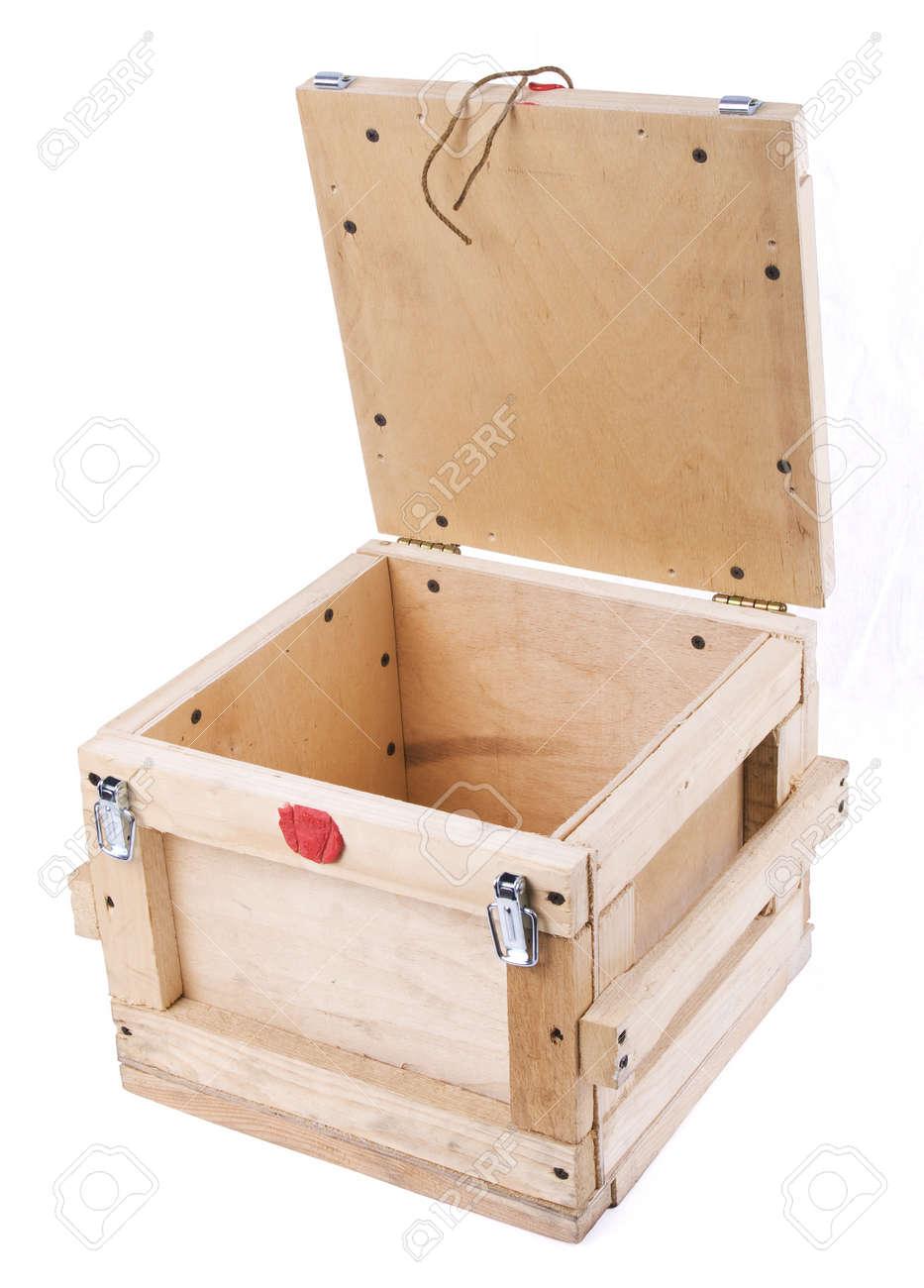 Holz Briefkasten Auf Dem Weißen Hintergrund Lizenzfreie Fotos