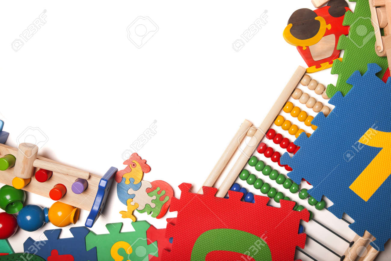 Border Of Very Many Kids Toys Stock Photo Picture And Royalty Free