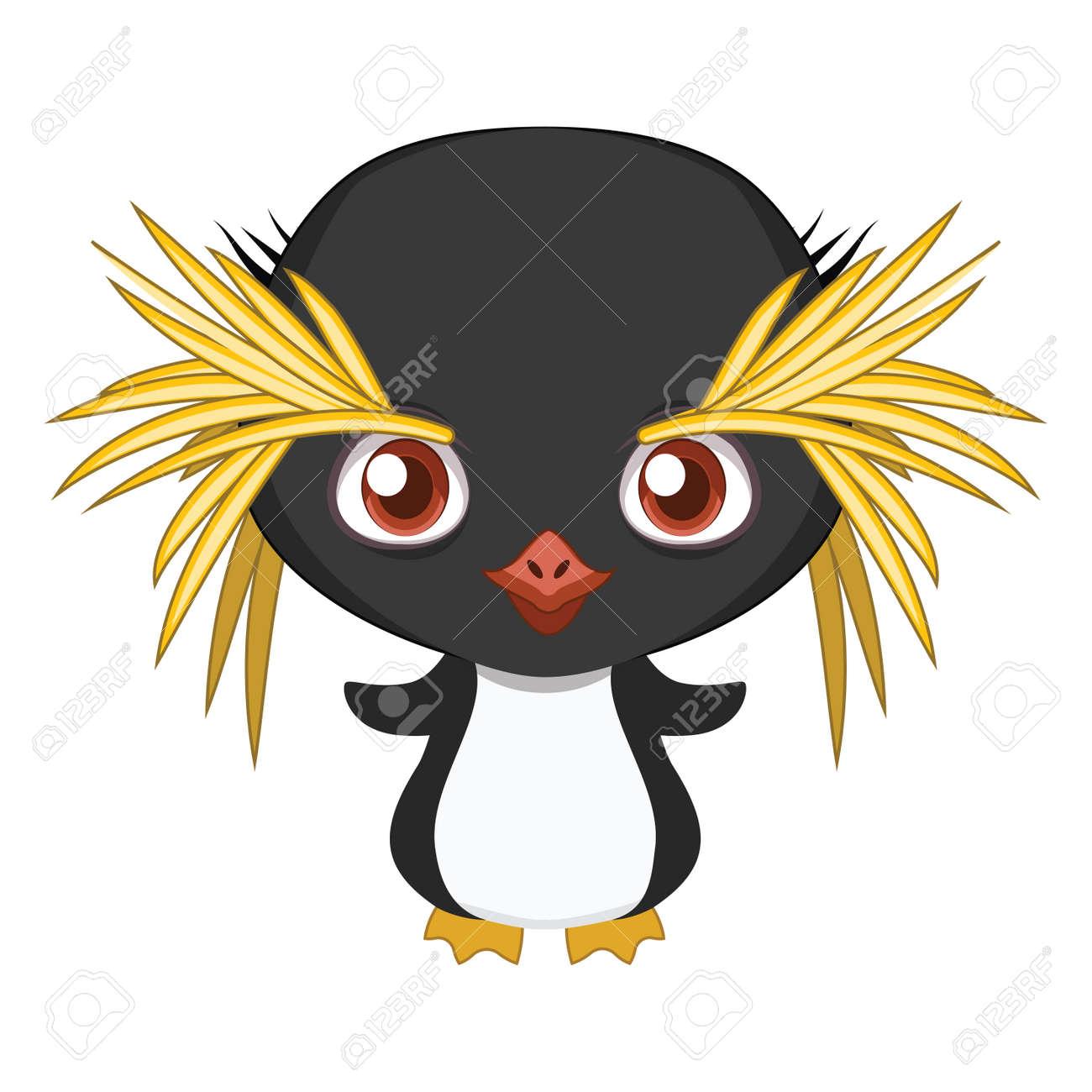 Cute Stylized Cartoon Macaroni Penguin Illustration For Fun
