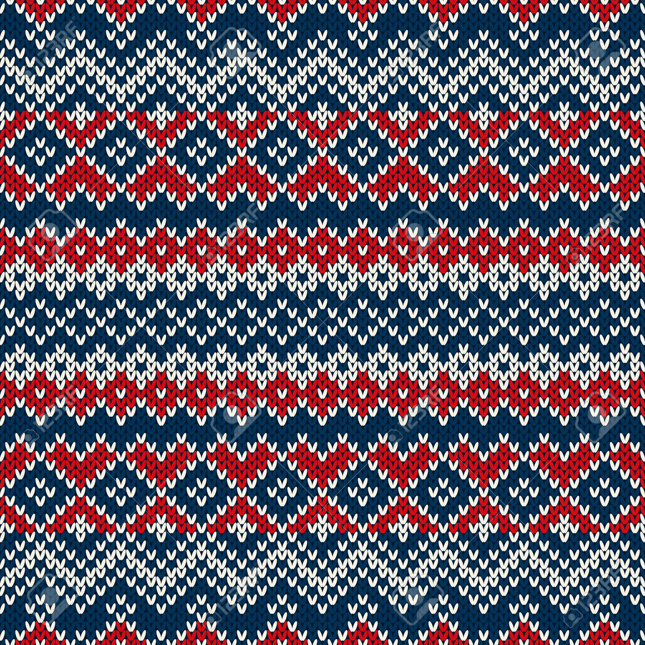 Nordic Traditional Fair Isle Style Seamless Knitted Pattern Royalty ...