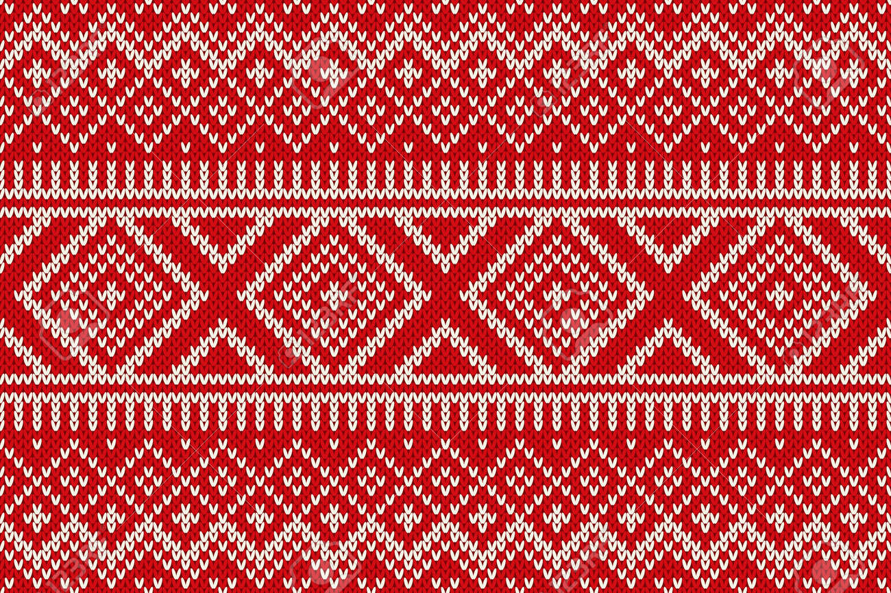 170bb6ecaaa4 Seamless Knitted Pattern. Winter Holiday Sweater Design Stock Vector -  33609559