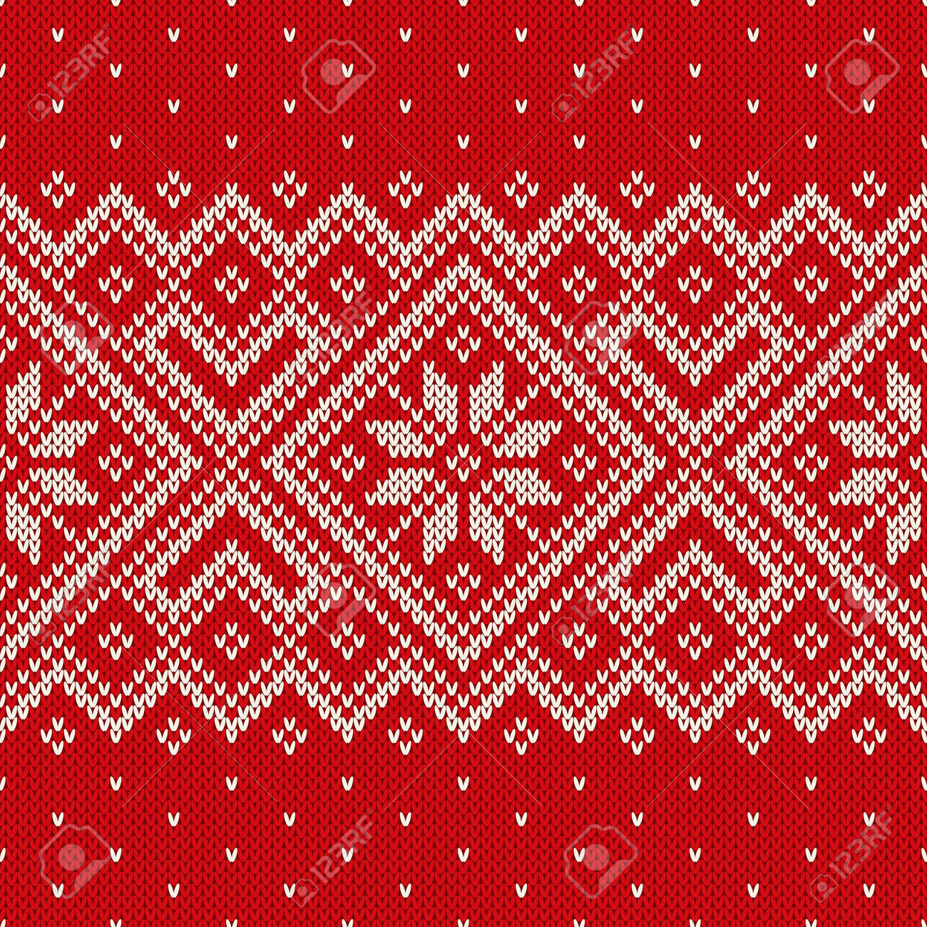 d832c0593 Christmas sweater design on the wool knitted texture. Seamless pattern  Stock Vector - 34010035