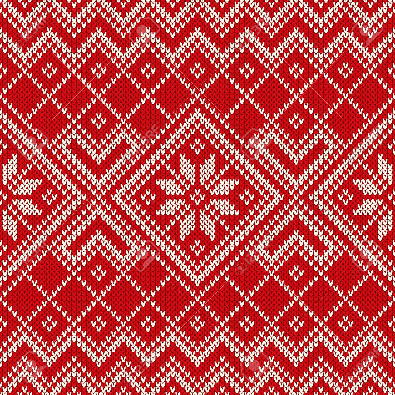 61d724b42 Christmas sweater design on the wool knitted texture. Seamless pattern  Stock Vector - 34010044
