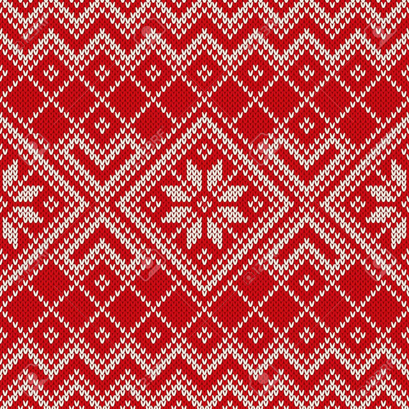 Diseño Suéter De Navidad En El Punto De Lana De Textura. Patrón Sin ...