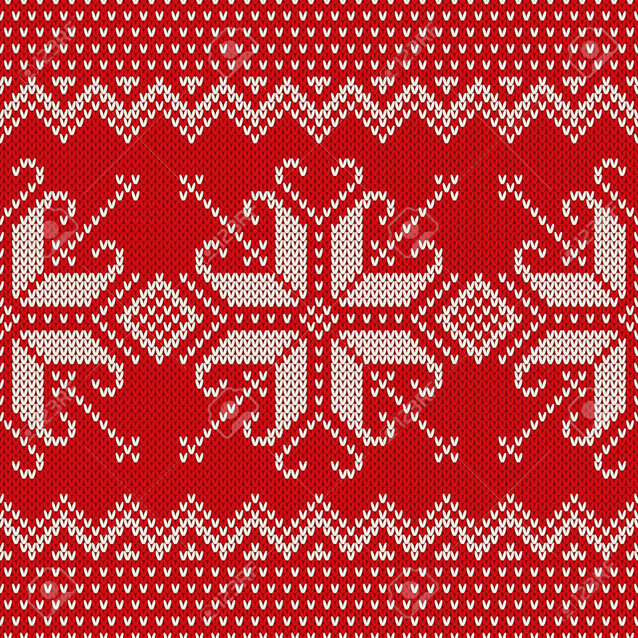 91a351f36602 Christmas Sweater Design. Seamless Knitted Pattern With Snowflakes ...